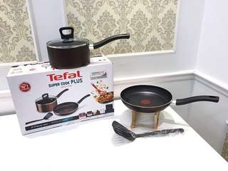 TEFAL SUPER COOK PLUS INDUCTION (POWER GLIDE NON STICK)