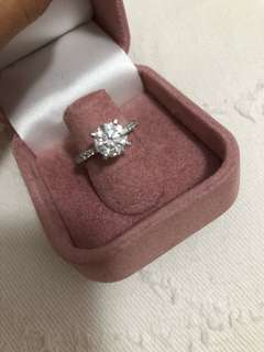 鑽石戒指 diamond ring 1.73 D vvs2 3ex none