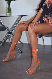 Simmi shoes size 9 orange heels