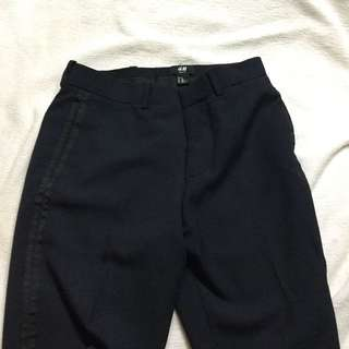 H&M Navy Slim Fit Trousers