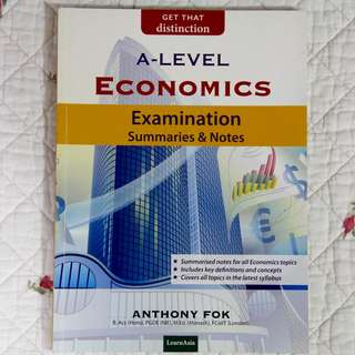 H2 Econs Examination Summaries and Notes