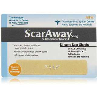 "ScarAway Long Silicone Scar Sheets (1.5"" x 7.0"")"