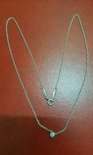 Tiffany 纯銀单鑽石项鍊