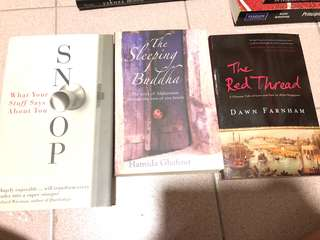 3 books for sale (price is for each book)