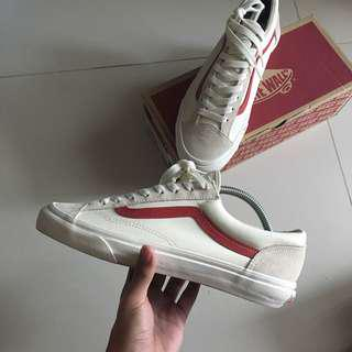(US8.5) Vans Style 36 G-Dragon Marshmallow/Racing Red