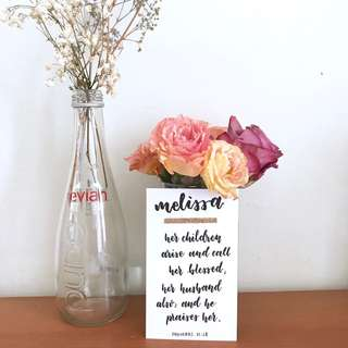 Calligraphy Cards - Bible Verses