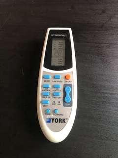 York Aircon Remote Control