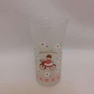 ❎❎清倉跳樓不議價❎❎ sanrio marron cream 花花玻璃杯 1992年