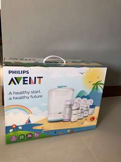 BN Philips Avent electric steam sterilizer and bottle warmer set