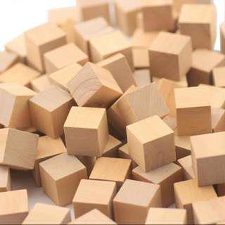 [PO] Wooden Cube Block