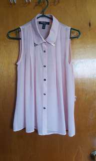 Shear pink shirt