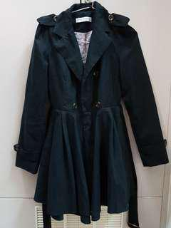 🚚 黑色麂皮風衣外套#十月女裝半價