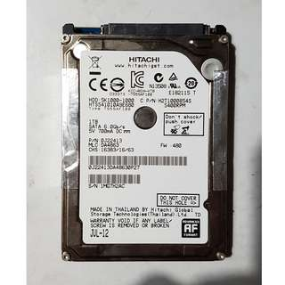 "Faulty Hitachi 1TB 2.5"" SATA 6Gbps Laptop Harddisk HDD"