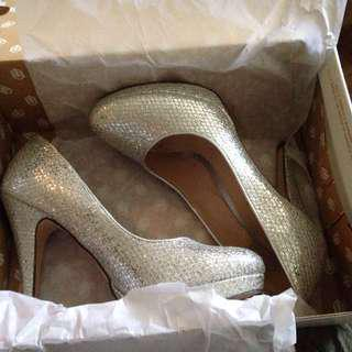 Silver Heels Size 8 From SPRING