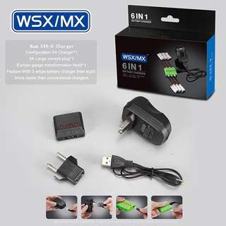 WSX / MX X5A - B05 5 in 1 Balance Charger with 5x 3.7V 400mAh 25c Lipo Battery