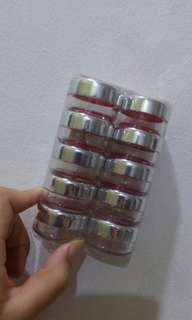 10pcs of 20g Colored Plastic Jar