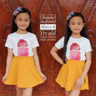 KiDS CHANNEL iNSPiRED TERNO P270 Freesize/Onesize/Fiys 3-6 yrs old petite Crepe Fabric Code : Esy /