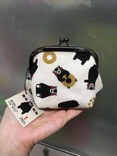 日本熊本熊 Kumamon 帆布零錢包