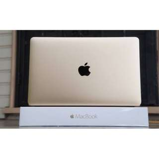 APPLE 金色 MacBook 12 256G 約近全新 電池僅59次 全機包膜 極致輕薄