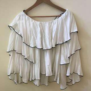 f21 off the shoulder ruffle top