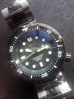 Seiko Marine Master Tuna Can Homage PVD Black Automatic Diver