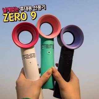 🚚 韓國Zer09迷你攜帶式無葉風扇 寶寶手持電扇 馬卡龍色 進口台灣出貨