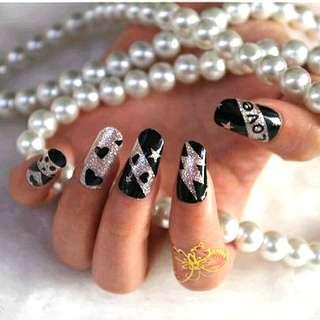Glittery Lovely Nail Sticker Wrap Foil