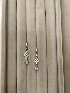 Earrings the silver ice