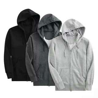 UNISEX HOODIE JACKET WD ZIPPER (PWEDE PANG COUPLES/ BN/PLAIN)