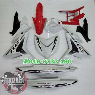 COVERSET EXCITER RC 150 PUTIH MERAH 2018 Y15ZR
