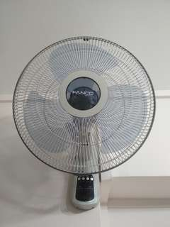Fanco Wall Fan - comes with remote control (Almost Brand New & Hardly Used)