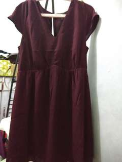 Mini dress maroon