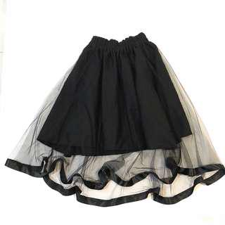Mesh Black Tutu Maxi Short Stretchable Skirt
