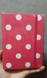 Pink Polka Dots A6 notebook