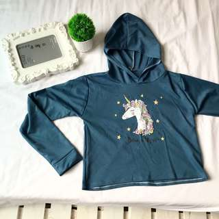 Unicorn Hoodie Cropped
