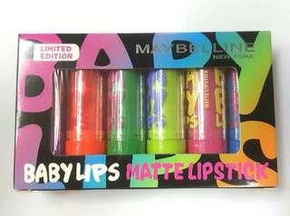 6Pcs - MAYBELLINE BABY LIPS MATTE LIPSTICK