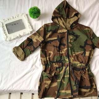 Camou Parka jacket, hoodie