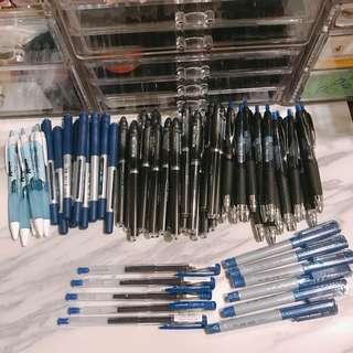 🚚 全新 出清 優惠 三菱uni-ball藍筆黑筆 利百代簽字筆  5隻任選100