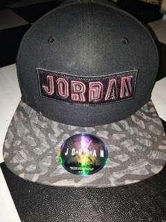 Jordan black cement snapback