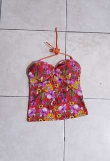 Orange swimwear top