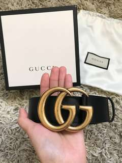 Brand New Gucci Double G Buckle Belt 4cm