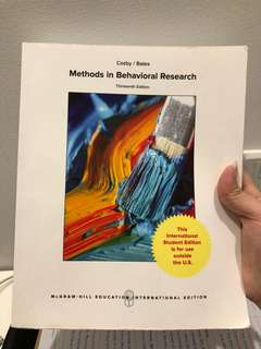 Methods in Behavioral Science 13th Edition