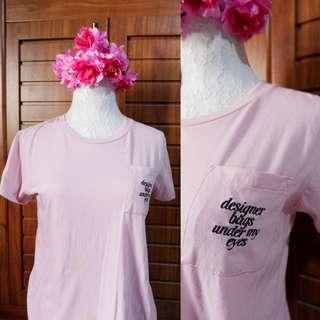 Preloved Penshoppe Old Rose Pink Tshirt