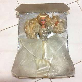 Barbie 1992 happy holidays limited edition crystal silver doll 限量版 絕版 收藏