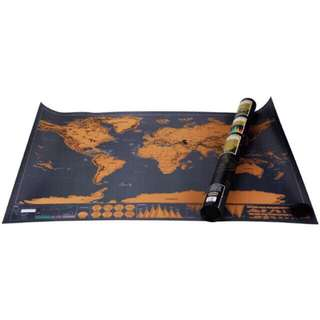 World Scratch Map Black Deluxe