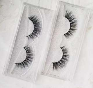 🚚 1 Pair 3D Mink False Eyelashes with Silver Glitter Casing