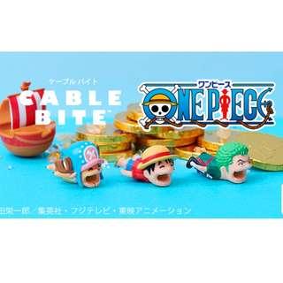 one piece/芝麻街/IQ博士/銀魂-cable bite (充電線套)