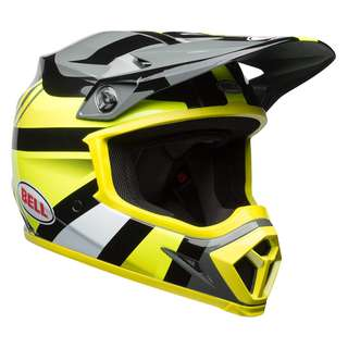 Bell MX-9 MIPS SIZE X-LARGE XL ONLY Marauder Off Road Motorcycle Helmet Gloss Hi Viz Yellow Black Grey Adult Off Road Helmet MIPS EQUIPPED D.O.T Certified TOP MODEL