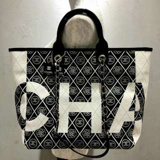 Chanel Large Shopping Tote Black Color
