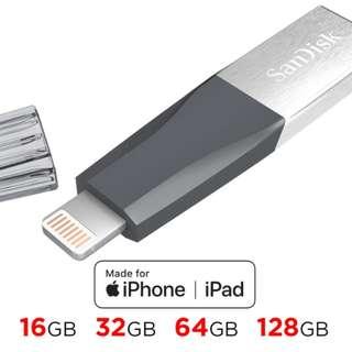 SanDisk iXpand mini Flash Drive USB3.0 16GB / 32GB / 64GB / 128GB